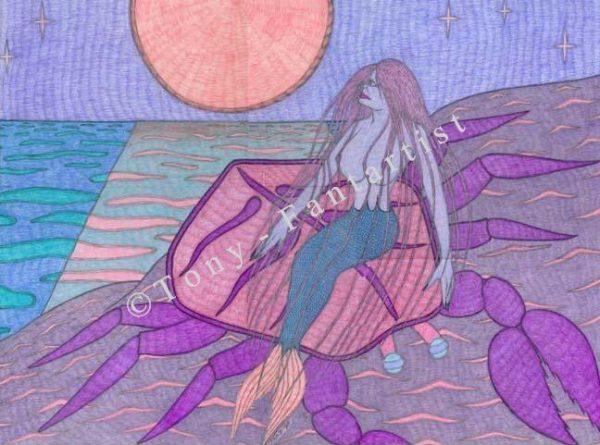 Sirène et crabe